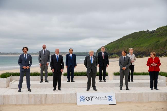 Smiling G-7 Leaders Seek Return to Camaraderie After Trump
