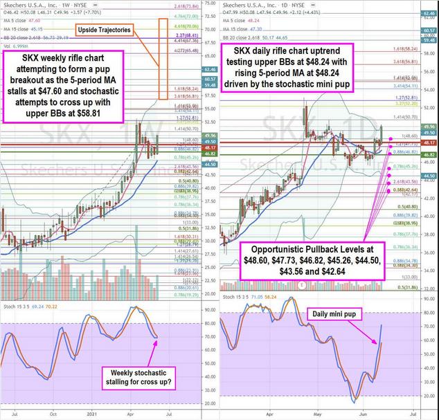 Skechers Inc Stock Chart