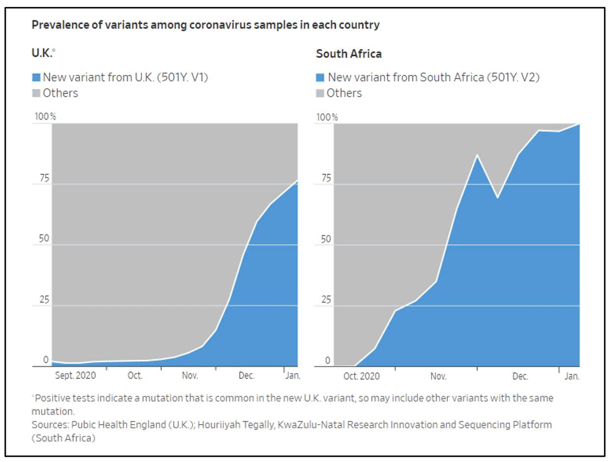 Prevalence Of Variants Found In Coronavirus