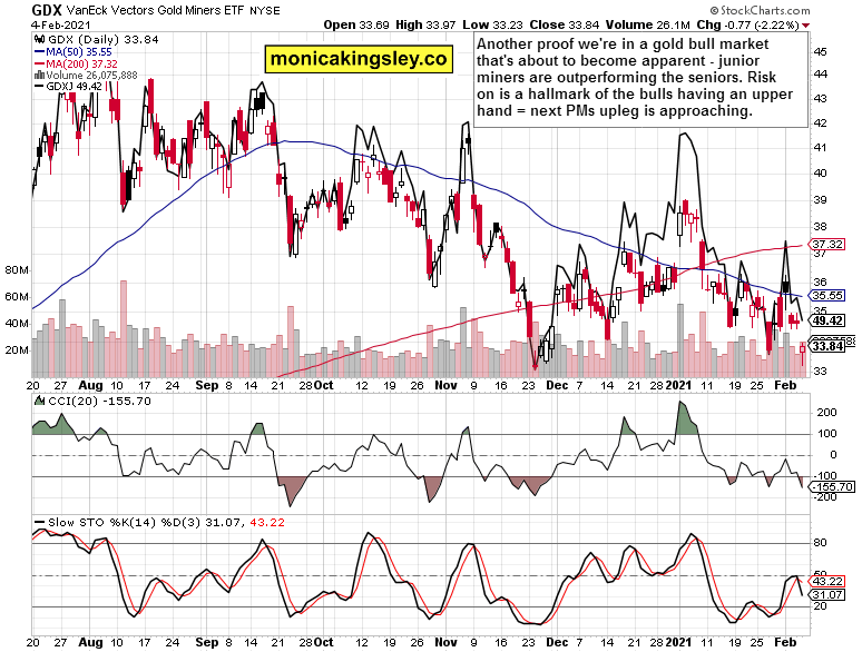 Gold Miners Daily Chart.