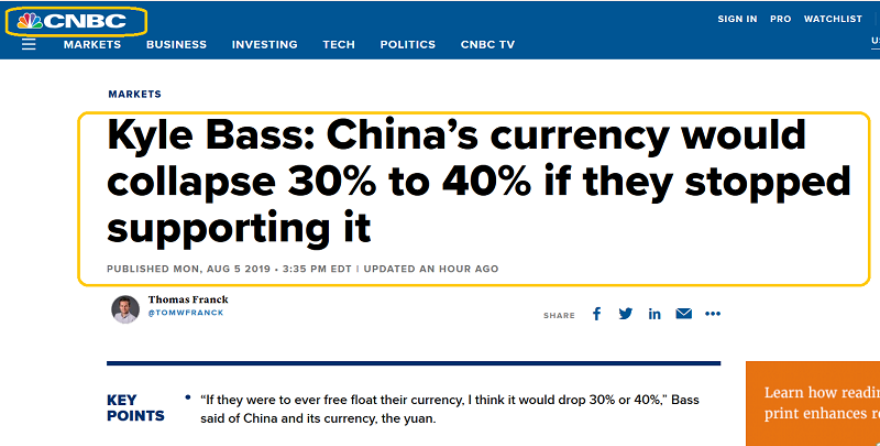 CNBC On China's Currency