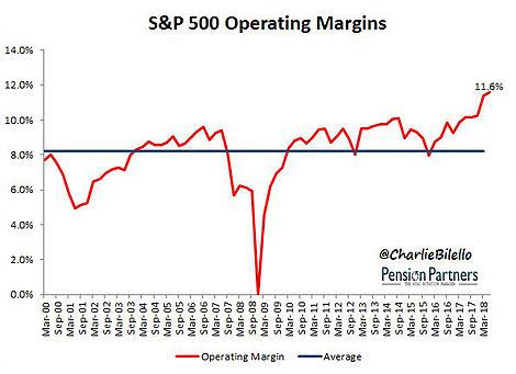 S&P 500 Operating Margins 2000-2018