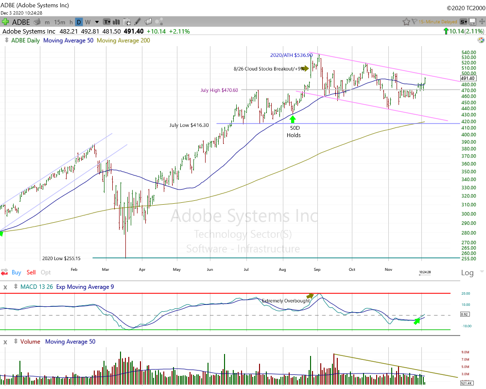 Adobe Systems Daily Chart.