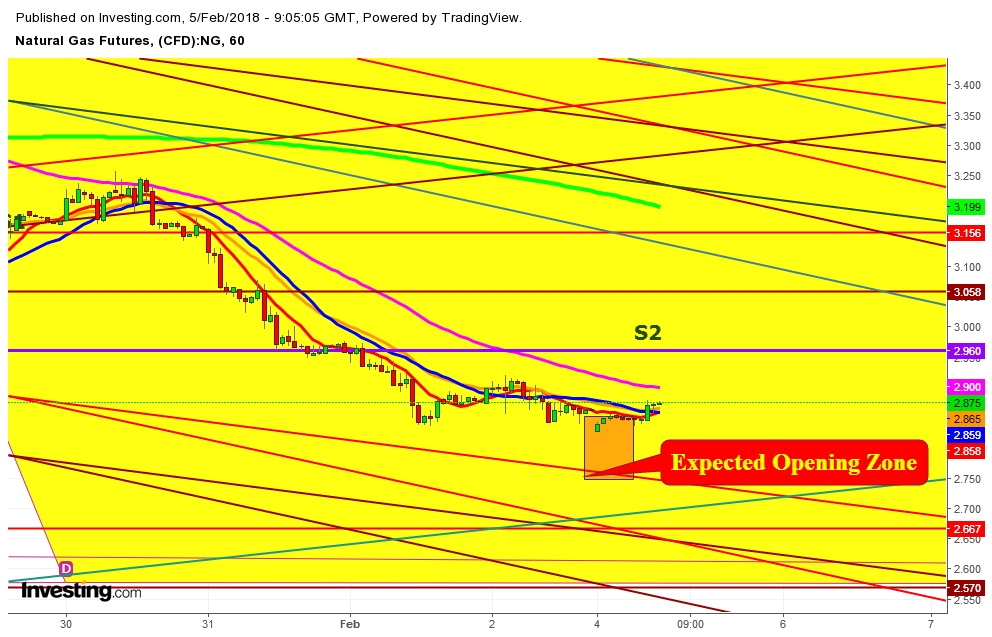 Natural gas futures options trading