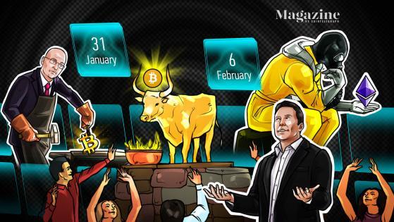 BTC bounceback, ETH's 'legit crisis,' Elon Musk's DOGE stunt: Hodler's Digest, Jan. 31–Feb. 6