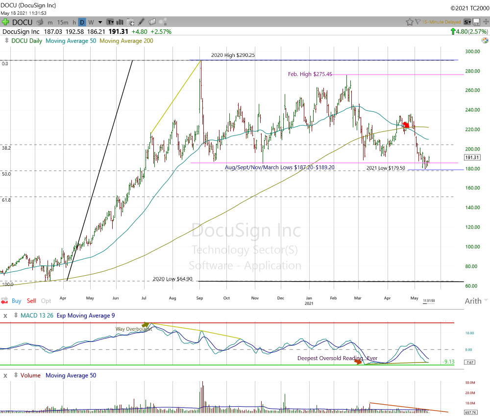 DocuSign Daily Chart.