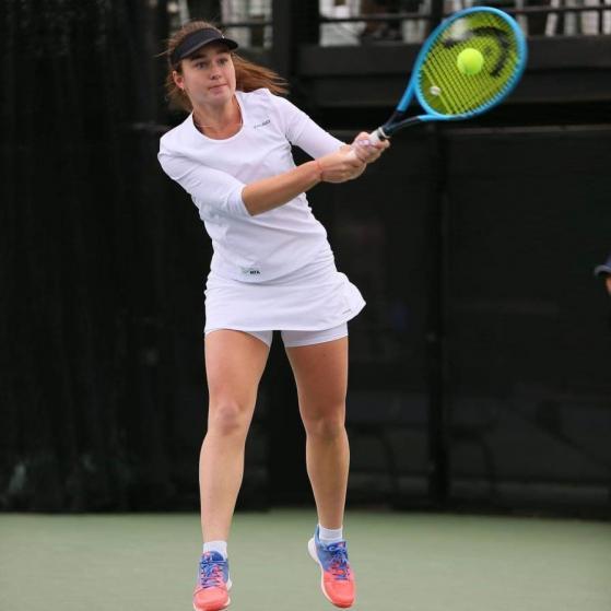 Pro tennis player tokenizes part of her arm