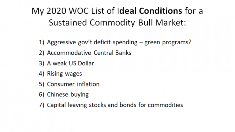 Ideal Conditions For Sustained Commodity Bull Market