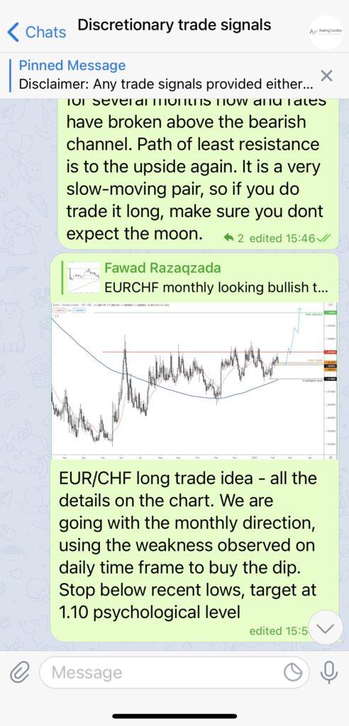 Discretionary Trade Signals