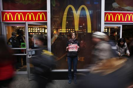 McDonalds Workers Respond To Wage Hike Announcement With Protests
