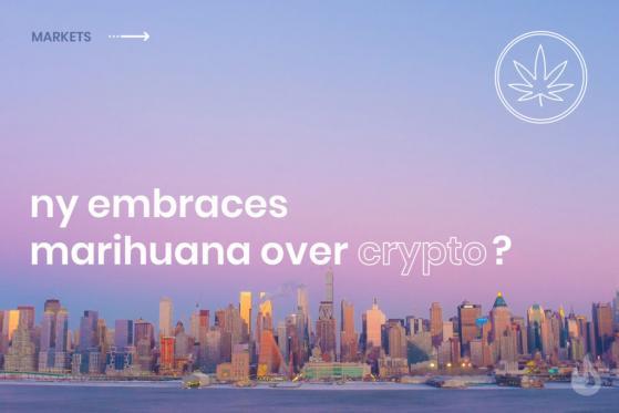 New York Embraces Marijuana Over Cryptocurrencies