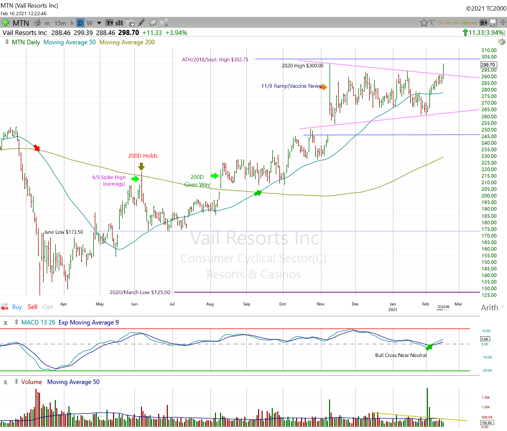 Vale Resorts Daily Chart.