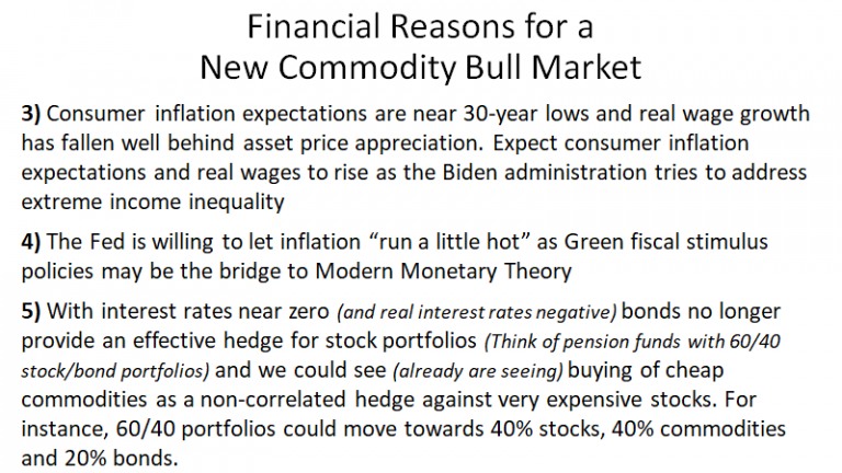 Financial Reasons For New Commodity Bull Market