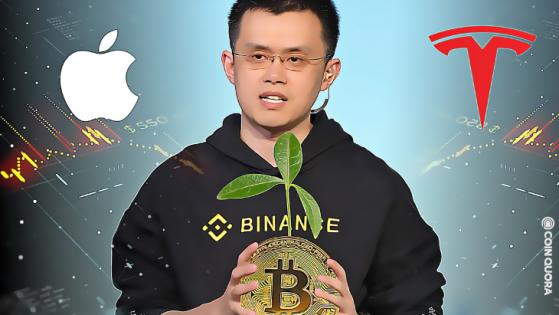 BTC Is Less Volatile Than Apple or Tesla, Says Binance CEO