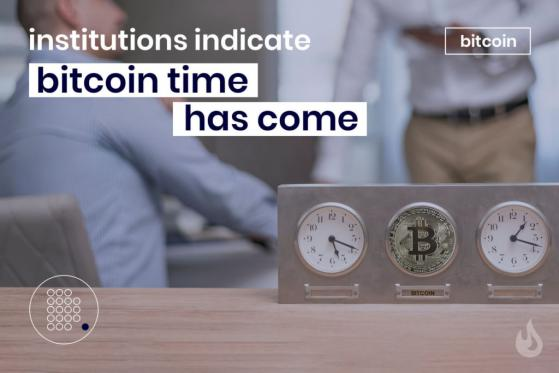 Institutions Indicate Bitcoin's Time Has Come