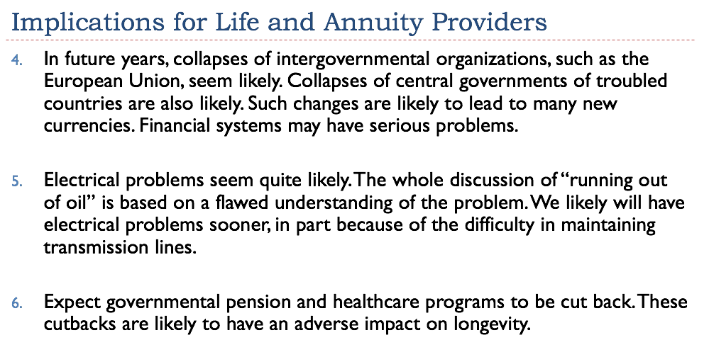 Impication For Life And Annuity Providers