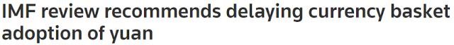 IMF SDR Headline