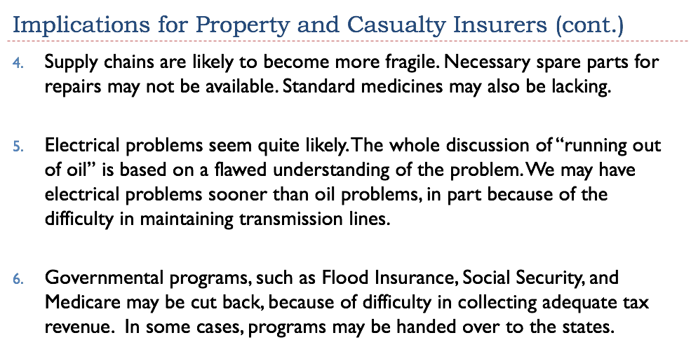 Implication For Prperty And Casualty Insurers Cont