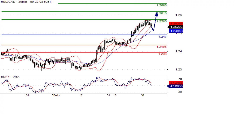 USD/CAD 30min Chart