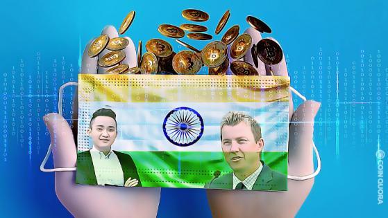 Justin Sun, Brett Lee Donate Crypto for India COVID-19