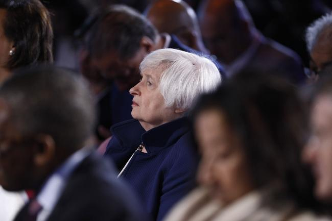 © Bloomberg. Janet Yellen, former chair of the U.S. Federal Reserve, attends the Bloomberg New Economy Forum in Singapore, on Tuesday, Nov. 6, 2018. The New Economy Forum, organized by Bloomberg Media Group, a division of Bloomberg LP, aims to bring together leaders from public and private sectors to find solutions to the world's greatest challenges.