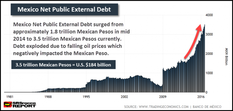 Mexican Net Public External Debt