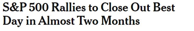 S&P Headline, Wednesday