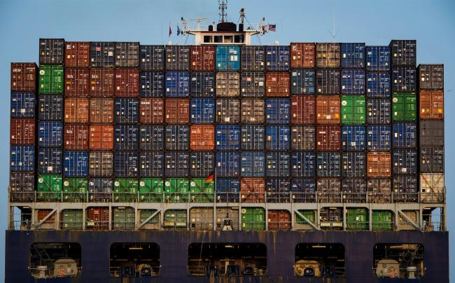 © Bloomberg. Shipping containers sit stacked on the CMA CGM Ivanhoe cargo ship sailing from the Port of Oakland in Oakland, California, U.S., on Tuesday, July 3, 2018. President Donald Trump threatened to impose tariffs on every single Chinese import into America as the world's two largest economies exchanged the first blows in a trade war that isn't set to end anytime soon. Photographer: David Paul Morris/Bloomberg