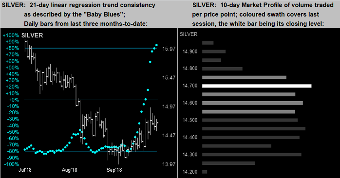 Silver 21 Day & 10 Day Market Profile