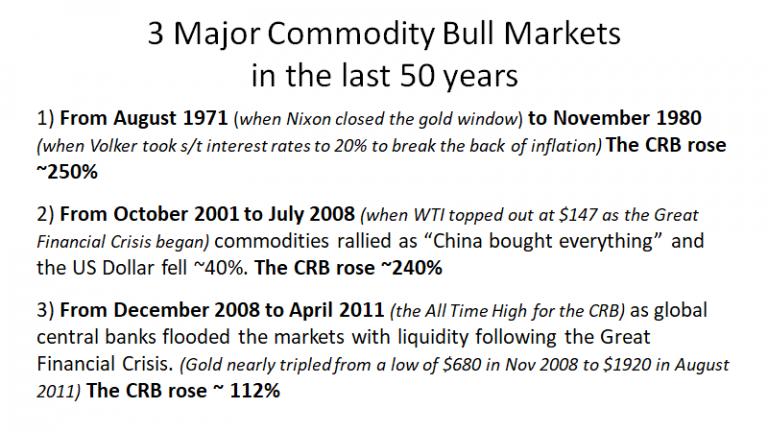 3 Major Commodity Bull Markets