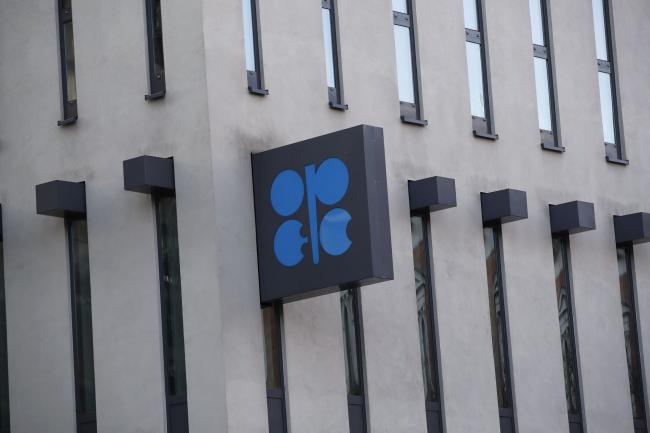 © Bloomberg. An OPEC sign hangs outside the OPEC Secretariat ahead of the 177th Organization Of Petroleum Exporting Countries (OPEC) meeting in Vienna, Austria, on Wednesday, Dec. 4, 2019. Crude supplies from OPEC's Middle East oil exporters, excluding Iran, fell to their lowest level since July, as the group's ministers gathered in Vienna to decide the next steps in their pact with a band of non-OPEC countries that aims to limit supply. Photographer: Stefan Wermuth/Bloomberg