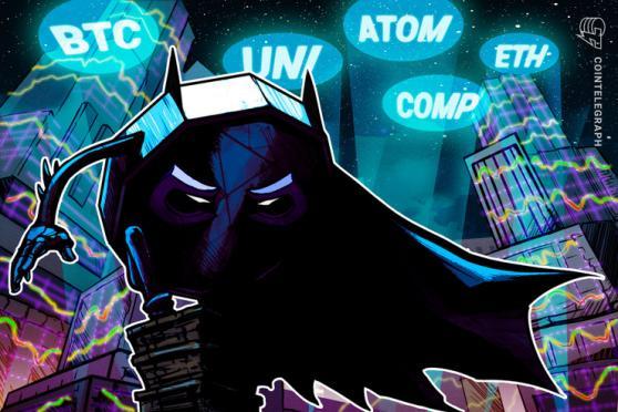 Top 5 cryptocurrencies to watch this week: BTC, ETH, UNI, ATOM, COMP