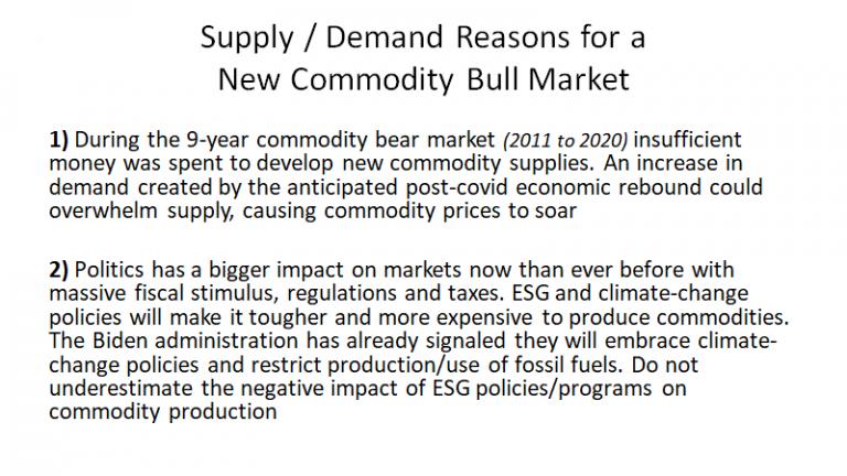 Supply-Demand Reasons