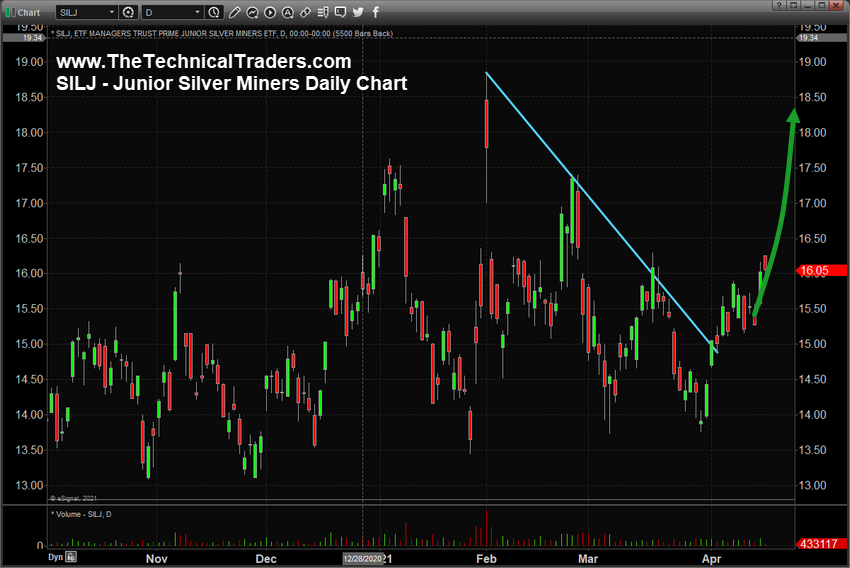 Junior Silver Miners Daily Chart