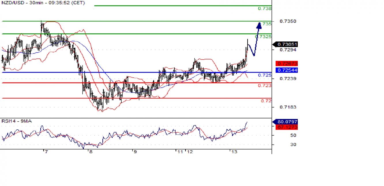 NZD/USD 30min Chart
